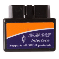 Wholesale Elm 327 Bluetooth Obd - BK New Hot 3 Years Warranty ELM 327 V2.1 Interface Works On Android Torque Elm327 Bluetooth OBD2 OBD II Car Diagnostic Scanner