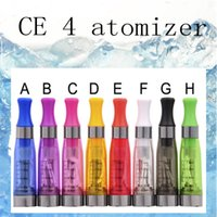Wholesale Ce6 Ce5 Ce4 Clear Atomizer - CE4 Clearomizer Atomizer Cartomizer CE4 ce5 ce6 Tank clear 1.6ml Vaporizer For Electronic Cigarette eGo T ,EGO k Battery (0203190)