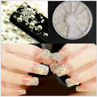 Wholesale Wholesale Assortment Box - Half white pearl beads 6 cm drill box of 12 nail art act the role ofing is tasted turntable 2 3 4 5 mm assortments