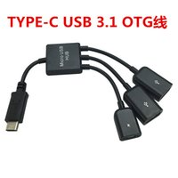 Usb Nabe Stromanschluss Kaufen -OTG 3 Port Typ C USB Power Lade Hub Kabel Spliter Stecker Adapter 4 in 1 USB 3.1 Hub Für Samsung / Huawei / Macbook