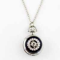 Wholesale Small Cute Watches - Elegant small size new style cute hollow out fashion antique pocket watch necklace 1)Perimeter: 79cm 2)Lead and nickel free