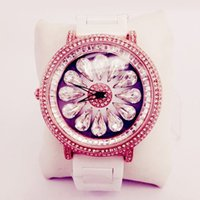 Wholesale Table Watches Vintage - B178 drop crystal diamond square diamond genuine vintage white ceramic watches female table quartz watch female table free shipping
