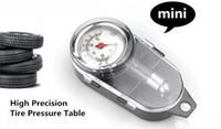 Wholesale Tire Pressure Gauge Truck Car - mini metal portable Tire pressure gauge for truck car Motorcycle bike lb sq.in kg cm2 post