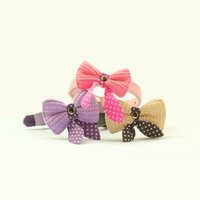 Wholesale Cat Stores - Armi store Knitted Bow Dog Collar For Dogs Cat Princess Collars 41004 Pet Accessories Boutique
