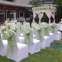 """Wholesale Wedding Centerpieces Organza - 18"""" x 120 Yards Wedding Organza Tulle Centerpieces Chair Tulle DIY Anniversary Decorations Party Banquet decoration Tulle EMS Fast ship"""