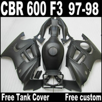 Wholesale 98 f3 - Matte Black ABS Fairing kit for HONDA CBR600 F3 fairings 97 98 CBR 600 F3 1997 1998 free tank cover