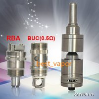 Wholesale Ego V6 Clearomizer - Kayfun V6 RBA Tank Clearomizer Atomizers with Airflow Control 22MM Diameter Kayfun V6 RDA Electronic Cigarette RDA For eGo 510 Series