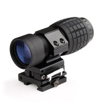 Wholesale Magnifier Flip - Funpowerland High quality 3X Magnifying Magnifier Scope With Flip Up Mount Free Shipping