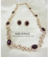 Wholesale Earing Beads - red diamond beads white crystal chain set necklace earing (0451) 4etert