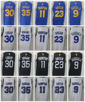 Wholesale Draymond Green - 2018 NEW 30 Stephen Curry 35 Kevin Durant 11 Klay Thompson 23 Draymond Green 9 Andre Iguodala Throwback White College Basketball Jerseys