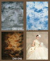 Wholesale Dyed Muslin Backdrop - Customized Backdrop For dyed muslin hand painted photographic background 3x5M