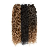 Wholesale 1b 27 braiding hair resale online - Mtmei Hair Packs Synthetic Goddess Locs Crochet Hair Extensions Low Temperature Fiber Crochet Braids Bulk Hair