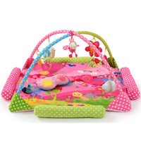 Wholesale zoo animal baby toys online - 2017 New Style Huge Animal Zoo Baby Play Mat Toy Baby Crawling Pad Baby Kids Educational Play Activity Gym Blanket One Piece