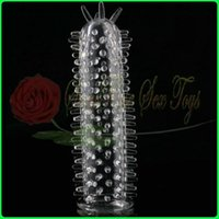 Wholesale D0675 Silicone condom penis sleeve penis extender Adult Sex Toy Sex products