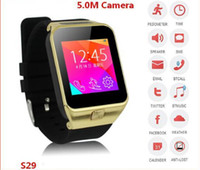 Wholesale Android Phone Skype - Watch Phones ZGPAX S29 Mobile Phone 1.3MP Camera GSM SIM Card FM Bluetooth Smartwatch for Android IOS Phones Facebook Twitter Skype