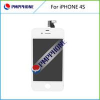 iphone 4s branco lcd digitalizador tela venda por atacado-Cor branca frente digitador da tela de toque de vidro lcd assembléia substituição para iphone 4s ferramentas frete grátis