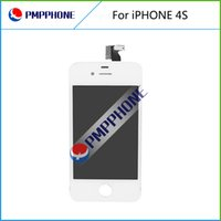 Wholesale Iphone 4s Color Lcd - White Color Front Glass Touch Screen Digitizer & LCD Assembly Replacement For iPhone 4S & Tools & Free shipping
