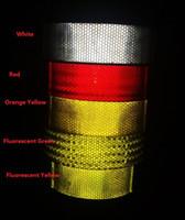 ingrosso nastro riflettente bianco rosso-Adesivi riflettenti autoadesivi riflettenti industriali del camion del segnale stradale del PVC e adesivi riflettenti industriali 50M * 30 rotoli