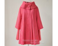 xxl roupa coreana venda por atacado-Atacado-s-xxl novo outono inverno coreano moda casaco de lã mulheres blusão cape outerwear maternidade grávida roupas femininas 1088