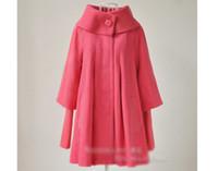 xxl korece giyim toptan satış-Toptan Satış - Toptan-S-XXL Yeni Sonbahar Kış Kore Moda Yün Coat Kadınlar rüzgarlık pelerin giyim Hamile Hamile Kadınlar Giyim 1088