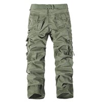 Wholesale Red Camo Cargo Pants - Full length pant Men's Cargo Pants Millitary Clothing Tactical Pants Men Outdoor Camouflage Army Style Camo Workwear Trousers big size 28-42