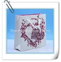 halsketten papier box großhandel-Großhandel 10 Stücke Exquisite Hochwertige Papier Geschenktüte 16 * 16 * 6 cm passt Pandora Schmuck Armband Halskette Box Verpackung Tasche Einkaufstasche