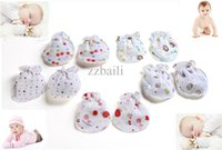 Wholesale Mittens For Baby Boy - Wholesale-2015 cute 0-9month newborn babies cotton gloves for baby girls&boys scratch infant gloves cartoon patterns mittens JXY0125