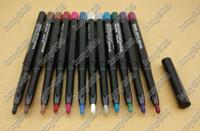 delineador negro oscuro al por mayor-Envío Gratis ePacket! 120 Unids / lote Nuevo Maquillaje Rotary Retractable impermeable Sombra de Ojos / Lápiz delineador de Ojos! 12 Colores