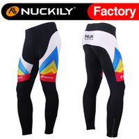 Wholesale Spandex Hot Pants Plus Size - Nuckily New arrival mens winter thermal fleece cycling long tight high-tech hot printed mens padded bicycle long pant MF013