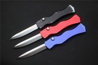 Wholesale Survival Knife Material - 2016 GANZO,Marfione Custom Microtech HALO IV prototype Rev.II S N D2 blade material aluminum handle camping hunting knife survival tool EDC