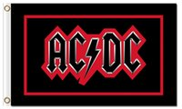 Wholesale Poster Quality - Wholesale Fabric Prints 90x150cm High Quality 100D Polyester 3x5ft Classic Music Band ACDC Rock Poster Flag