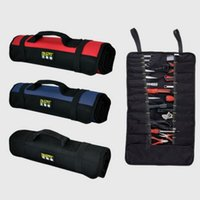 Wholesale Red Reels - FASITE Reel Rolling Tool Bag Tool Pouch 21 pockets Organizer RED BLACK BLUE Good Quality Free Shipping