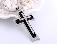 Wholesale Silver Plated Wedding Favors - NEW Hot Cartoon Game movie Key Chain Jesus cross Alloy keychain wedding favors keychain cc52