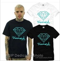 Wholesale Diamond Tshirts - Free shipping Retail new sale diamond printed t-shirts new style hiphop clothing brand diamond tshirts 100% cotton 4 colors