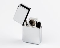 Wholesale Printed Lighters - Wholesale Silver Lighter Pipe Without Printing Designs Convenient&Popular To Use Fit In Pockets And Purses Aluminum 1pc opp bag Titan_v
