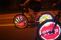 Wholesale Bicycle Monkey Lights - monkey light YQ8003 colorful wheel light bike bicycle cycle programmable led light flash animatic screen bicycle tail back lamp A5