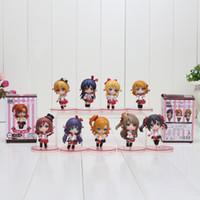 Wholesale Umi Sonoda - 9pcs set Anime Love Live! Action Figure Kousaka Honoka Minami Kotori Sonoda Umi Nendoroid Collectible Toys