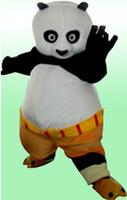 Wholesale Kung Fu Panda Mascotte - Fancy Black White Catbear Kungfu Kung Fu Panda Kungfu Bearcat With Black Arms Mascot Costume Mascotte Adult No.163 Free Shipping