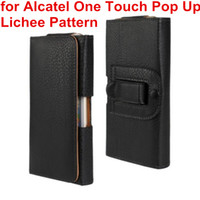 Date de taille Case Holster en cuir PU clip ceinture Housse Etui pour Alcatel One Touch pop up mobile Bag Phone