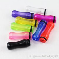 Wholesale Ego Ee2 Tips - 2015 EGO Plastic Drip Tips Mouthpiece transparent Colorful for EE2  Vivi Nova  DCT T4 510 Electronic Cigarette Clearomizer free shipping