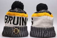 Новые Beanies Bruins 2017 Hot Knit Hockey Beanie Pom Pom Knit Hats Бейсбол Футбол Баскетбол Спорт Beanies Mix Match Order Все шапки