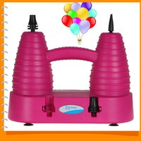 Wholesale Electric Air Pump Balloons - HT-509 Household Electric Balloon Pump Inflator Portable Inflatable Balloon Pump Air Blower with 2 Ports & 2 Operation Modes