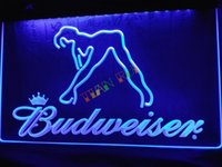 Wholesale Budweiser Led Sign - LE133-b Budweiser Exotic Dancer Stripper Bar Light Sign home decor shop crafts led sign
