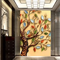 Wholesale Tree Pictures Decorative - New Hot 5D DIY Diamonds Embroidery Rich tree Magic cube Round Diamond Painting Cross Stitch Kits Mosaic home decorative picture