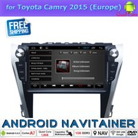 Wholesale Toyota Android Capacitive - Android 2 Din Car Stereo Built in GPS Radio for Toyota Camry 2015 with Bluetooth Quad Core Capacitive Touch Screen Car Dvd