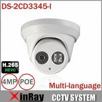 Wholesale Cctv Dome Ir - 2015Newest 4MP CCTV Camera HIK DS-2CD3345-I With H.265 IR-Cut Array Night Vision 30M Multilanguage Dome Camera