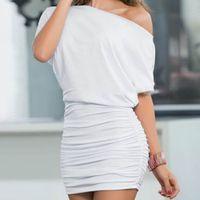 Wholesale Sexy Mini Kimono - FG1509 Womens One Shoulder Dress Slim Clubwear Bodycon dressNew