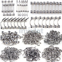 Wholesale Jewelry Brand Mix - Brand New wholesale mix lot 120pcs silver body jewelry piercing eyebrow lip belly rings [bb01-bb08-bb17 M*120]