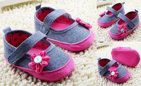 Wholesale Cheap Toddler Flower Girl Shoes - Flower toddler shoes!soft baby shoes,0-18 M children shoes,princess casual shoes,floor walker shoes,china cheap kids shoes.6pairs 12 pcs.C