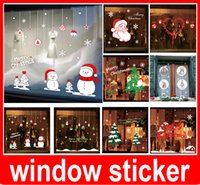 Wholesale Quote Tree - Christmas tree happy new year vinly PVC shop window sticker DIY art drawing house room wall quote decal decoration